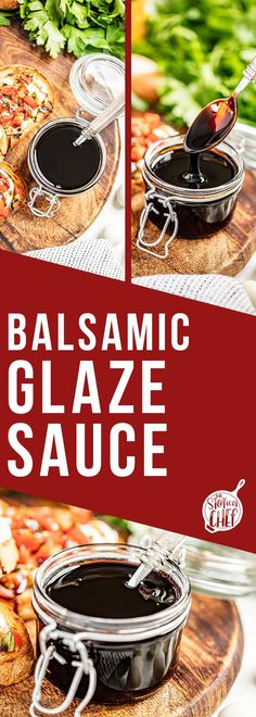 Balsamic glaze requires only 2 ingredients and 15 minutes to make the most flavorful sauce to go on your favorite salads, chicken, vegetables, and more! You're definitely going to want to give this recipe a try. Dinner Side Dishes, Dinner Sides, Stay At Home Chef, Classic Salad, Breakfast Salad, Cold Pasta, Balsamic Glaze, Best Dinner Recipes, Cucumber Salad