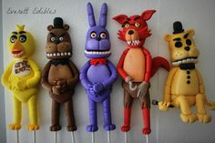 "8"" Five Nights At Freddy's ONE character Cake Topper Decoration 5FNAF - sizes vary by character sku#198225"