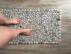 Home Textiles & Carpets handmade. Buy A carpet of pebbles foot massage. Pebble Bath Mat, Pebble Floor, Stone Rug, Pebble Stone, Carpet Size, Foot Massage, Rock Painting, Home Textile, Home Deco