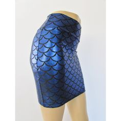 Blue Mermaid Scale Spandex Bodycon Mini-Skirt Metallic Holographic ($29) ❤ liked on Polyvore featuring skirts, mini skirts, grey, women's clothing, sexy short skirts, metallic mini skirt, metallic skirt, mini skirt and short mini skirts
