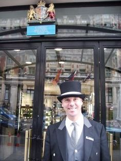 Tim, a London doorman for Harvey Nichols