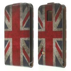 Mesh - Samsung Galaxy S5 Mini - Hoesje Flip Case Britse Vlag | Shop4Hoesjes