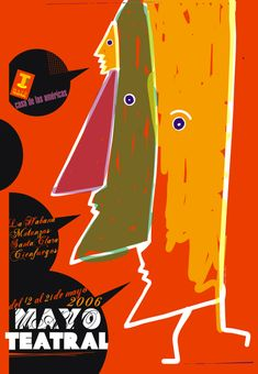 Nelson Ponce, Mayo teatral, 2006 Cienfuegos, Art Posters, Movie Posters, Cuban Art, Kunst Poster, Mayo, Collection, Design, Graphic Design