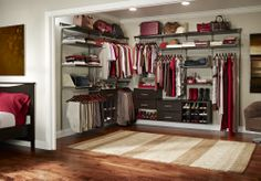 Make a small room or den a walk-in closet. Not every home is built with one, so why not create one?