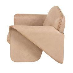 organic leather armchair
