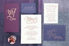 Bohemian-Hochzeitsinpiration in Beerenfarben und Marsala - #Hochzeitseinladungen #Papeterie #Invitation