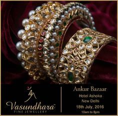 We are showcasing our exclusive Jadau jewellery collection at Ankur Bazaar, New Delhi on 18th July, 2016. #bridal #jewellery #indian #jewellery #wedding