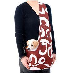 Pet Carrier Front Bag Poliéster Sling Dog Cat Single Shoulder Bag Frente Fralda Para Teddy Dog Cat