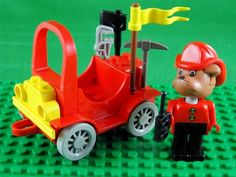 Vintage 1987 Lego Fabuland set 3797 - BARTY BULLDOG FIRECHIEF & HIS CAR + Extras