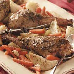 Turkey Leg Pot Roast  ***TRIED IT, ON THE FENCE***  (need to tweak the recipe)