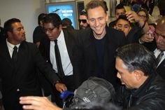 Tom Hiddleston. Arriving in Mexico for the #KongSkullIsland premiere. March 2017.