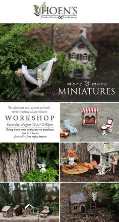 NEW Miniature Garden Accents and Free Workshop! Click the image to register online or call 419.865.6566
