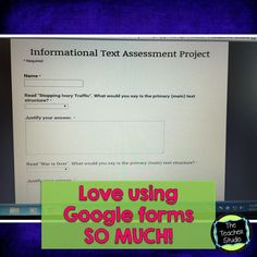 """Google Form Assessment:  Text Structures!  Come see how I used Google forms to """"take the temperature"""" of my students' understanding of informational text structures!"""