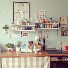 Kitchen envy. photography . anna-maria dahms: Love the shelving here.