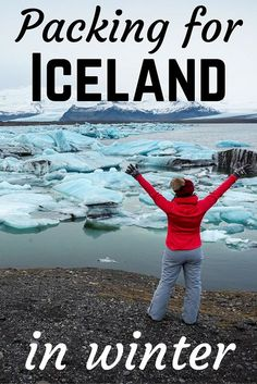 Packing List for Winter: What to Wear in Iceland in Winter Packing for Iceland in WinterPacking for Iceland in Winter Winter Packing, Winter Travel, Summer Travel, Island Winter, Iceland In December, Places To Travel, Places To Go, Travel Destinations, What's In My Backpack