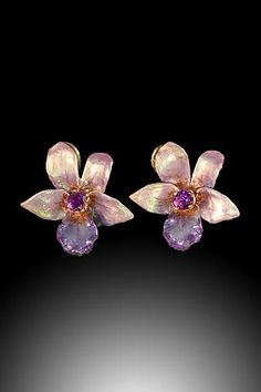 Russell Trusso Orchid Earrings