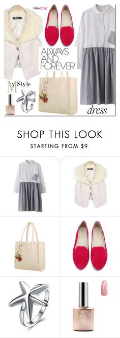 """""""NEWCHIC two -tone dress"""" by mada-malureanu ❤ liked on Polyvore featuring GetTheLook, twotonedress and lovenewchic"""