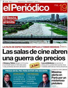 Los Titulares y Portadas de Noticias Destacadas Españolas del 19 de Noviembre de 2013 del Diario El Periódico ¿Que le pareció esta Portada de este Diario Español?