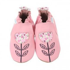 <p><strong>Robeez Tina Tulip Baby Shoes, Soft Soles, Prism Pink</strong></p><br/><p>Tip toeing thru the tulips will be easy in these pink leather baby shoes that feature a tulip cut out inset with white leather which is printed with pink flowers. The inset leather is also used as a bow and back heel trim. Like all Robeez Soft Soles, these infant shoes feature a non-slip suede outsole, which protects your child from slipping, and an elasticized ankle band which will keep this shoe securely…