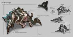 Slug Creature Concept by ExoMemory on DeviantArt
