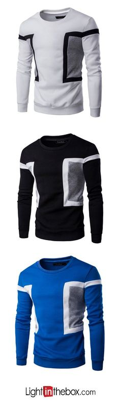 2240c262fbcf5 Men s Active Long Sleeve Sweatshirt - Color Block Round Neck