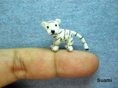 Cute White Tiger Mini Tiny Crocheted Tigers Made To por SuAmi