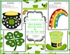 Here's a set of 8 different St. Patrick's day themed roll and cover games on skip counting strategies.