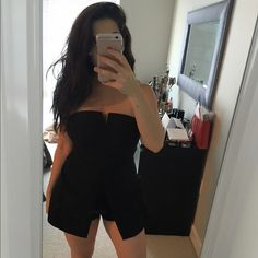 Stylish Black Romper Brand new with tags!! Dresses