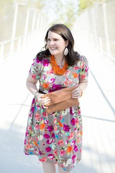 LulaRoe Floral Amelia Dress, The Root Collective Millie Smoking Shoe, Made for Freedom Lily Necklace and Bracelet, Sseko Designs Leather Clutch, Nickel and Suede earrings | Mom Style | North Carolina Fashion & Style Blogger (6)