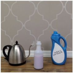 Stripping wallpaper? Make it easier with hot water & fabric softener. #lowesfixinsix