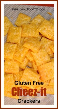 Gluten Free Cheez-It Crackers. All the cheesy, salty deliciousness of regular Cheez-it crackers without the gluten, trans fats, and chemical flavorings. These taste exactly like the real thing! Great snack for kids!!!