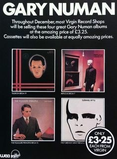 Gary Numan Promotional Ad