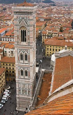 Campanile as seen from Duomo's Dome,  Florence  Italy