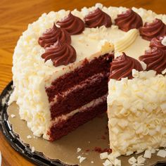 This layered red velvet cake recipe would be great for a special occasion. . Layered Red Velvet Cake Recipe from Grandmothers Kitchen.