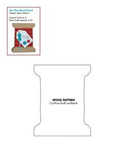 Spool template for paper crafting. #cards #card_making #templates #downloadable
