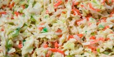 Here's the recipe for that great creamy cole slaw they sell in the delis, and the secret ingredient is sour cream mixed with mayo.
