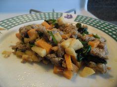 Eggless breakfast idea - Sweet potato and Apple hash