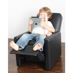 Etonnant Black Kids Modern Recliner Arm Chair For Charlie Next Year!