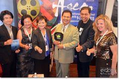 (from left) Yasu Tanaka, Bea Tanaka, Livan Tajang, Datuk Ik Pahon, Jaffri Amin and Virginia Kennedy.