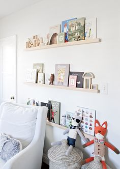 The perfect white paint 3 (Snow Fall by Behr)// DIY shelves // sarah sherman samuel