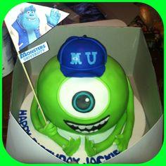 Monsters university mike wazowski cake!!