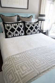 Stacked bed pillows