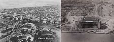 Manila, before and after World War II. Jose Rizal, Manila, World War Ii, Vintage Photos, Philippines, Paris Skyline, How To Memorize Things, Old Things, United States