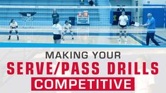 In this video, Mark Rosen shows how serving and passing drills can be taken to a more competitive and game-like level. This competitive serve receive drill mirrors how servers who put the opposing team out of system often get another opportunity to serve. To see how the drill works check out the video: