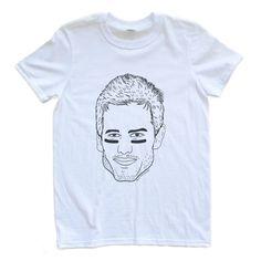 53962c9c0e Adult Unisex T Shirt Tom Brady Patriots Eye Black Shirt Size Small Through  XL White Patriotic