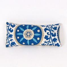 Blue+Suzani+Indoor+Outdoor+Pillow+by+MiCasaBella+on+Etsy,+$38.00 8.5 x 17.5