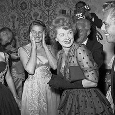 Ingrid Bergman and Lucille Ball at the Oscars.