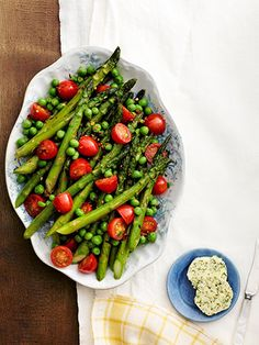 Asparagus, Peas, and Tomatoes with Herb Butter — the ultimate Easter dinner side dish!