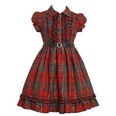 Vintage Style Plaid Shirtwaist Dress -