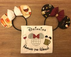 Drinking around the world / Disney Epcot Food and Wine Festival Shirt